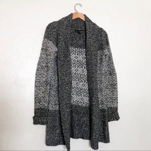 Long Knit Gray Cardigan
